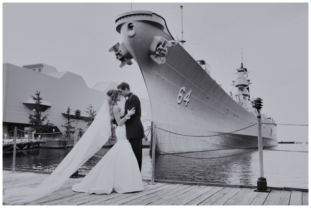 vintage wedding photo ship