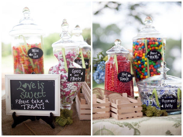 outdoor wedding dessert bar