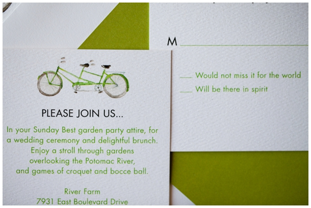 bike wedding invitation