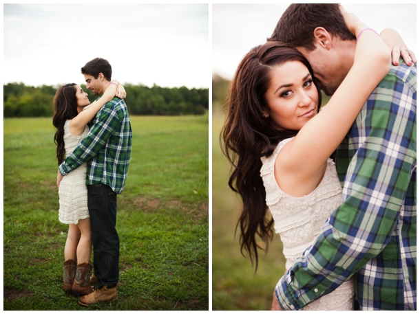 cowboy boots and plaid engagement
