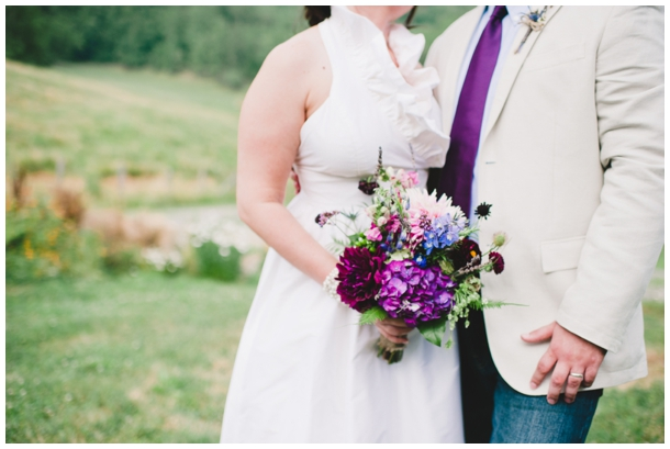 purple outdoor wedding