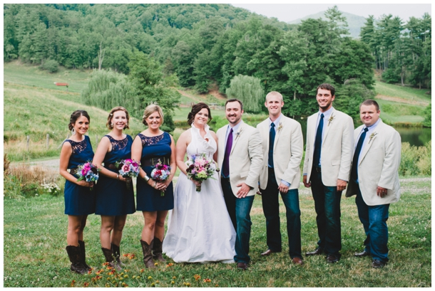 purple and navy bridal party